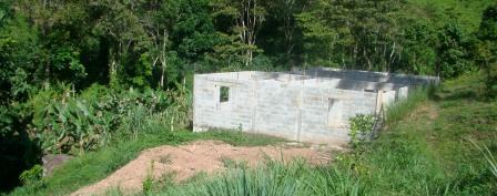 Walls Up for the Volunteer House