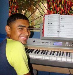 José Practicing Piano