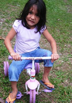 Lilian Riding Her Bike