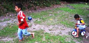 Javier & Carlitos Playing Outside