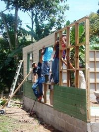 Putting Up the Community Kitchen